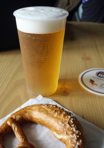 Germany pretzel and beer