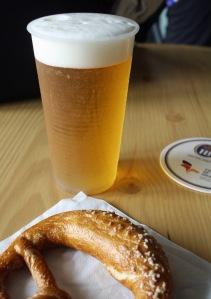 Germany pretzel and beer